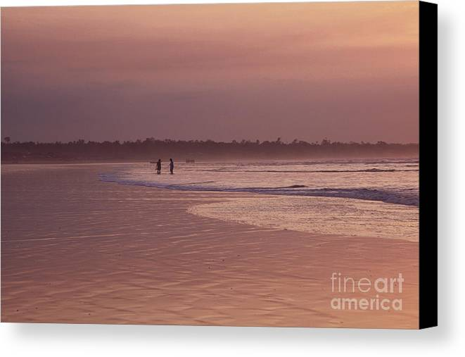 Ecuador Canvas Print featuring the photograph Beachcombers by Kathy McClure