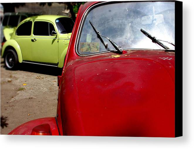 Jez C Self Canvas Print featuring the photograph Beast Approaching by Jez C Self
