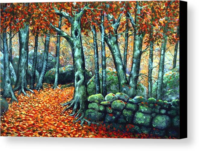 Landscape Canvas Print featuring the painting Beech Woods by Frank Wilson