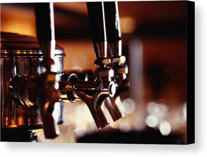 Horizontal Canvas Print featuring the photograph Beer Taps by Ryan McVay