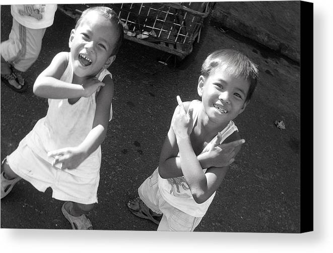 Photographer Canvas Print featuring the photograph Being Kids 3 by Jez C Self