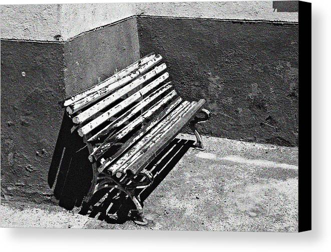 Photographer Canvas Print featuring the photograph Bench by Jez C Self