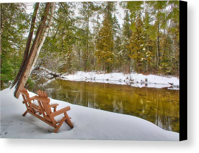 Bench Canvas Print featuring the photograph Bench Of Solitude by Rick Jackson