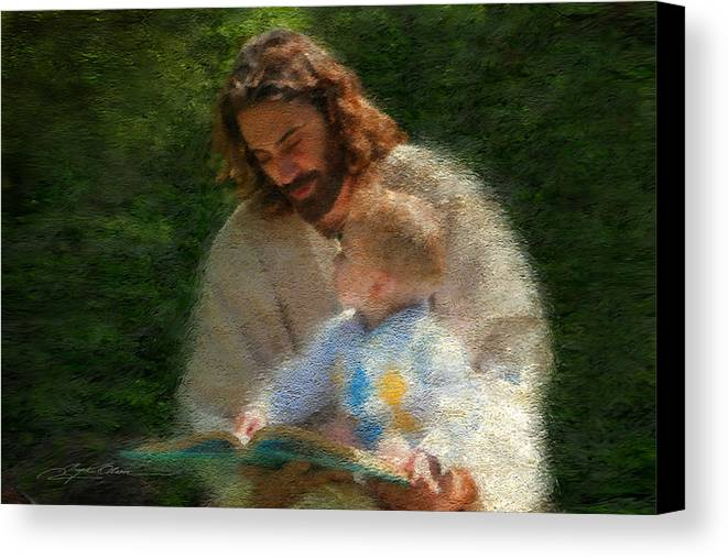 Jesus Canvas Print featuring the painting Bible Stories by Greg Olsen