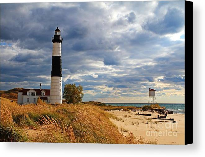 Big Sable Lighthouse Canvas Print featuring the photograph Big Sable Lighthouse #2 by Dale Niesen