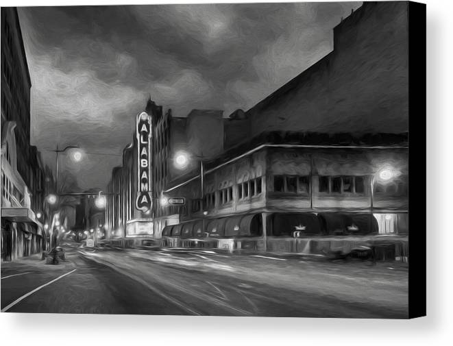 Alabama theater canvas print featuring the photograph birmingham alabama by steven michael