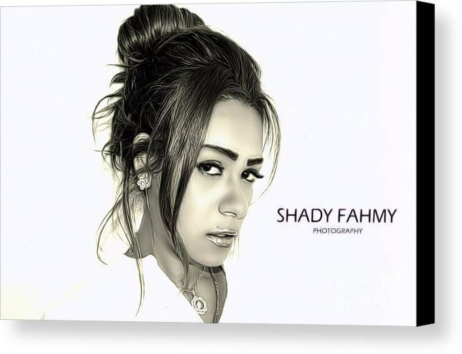 Canvas Print featuring the photograph Black And White by Shady Fahmy