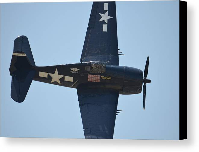 Plane Canvas Print featuring the photograph Blast From The Past by Greg Caldwell