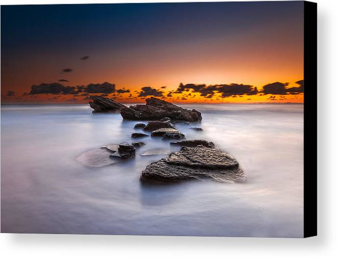 Seascape Canvas Print featuring the photograph Blaze by Mike Drosos
