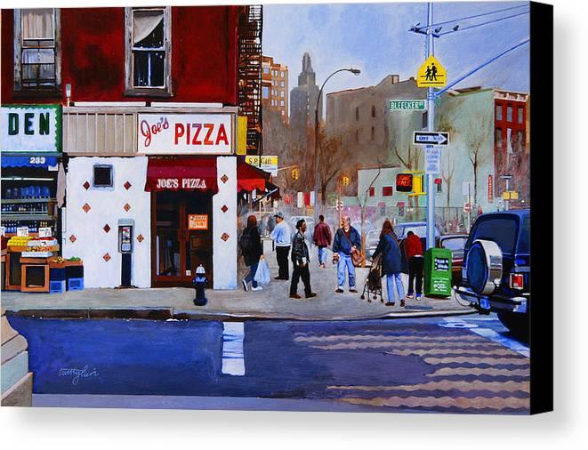 Bleecker Street Canvas Print featuring the painting Bleecker Street by John Tartaglione