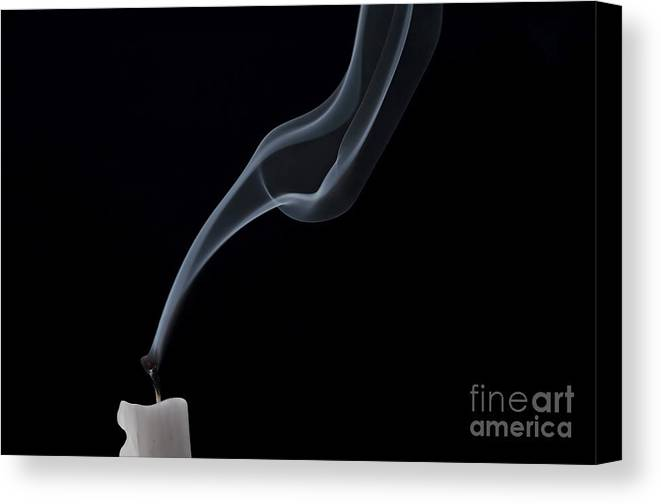 Candlle Canvas Print featuring the photograph Blew Out The Candles by Michal Boubin