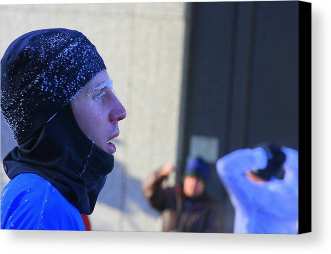 Marathon Canvas Print featuring the photograph Blue Frost by Laurie Prentice