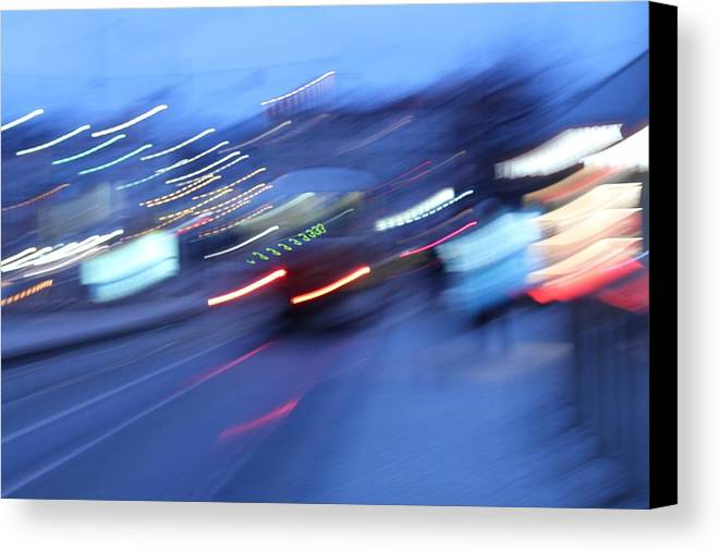 Blue Canvas Print featuring the photograph Blue Night by Radka Zimova King