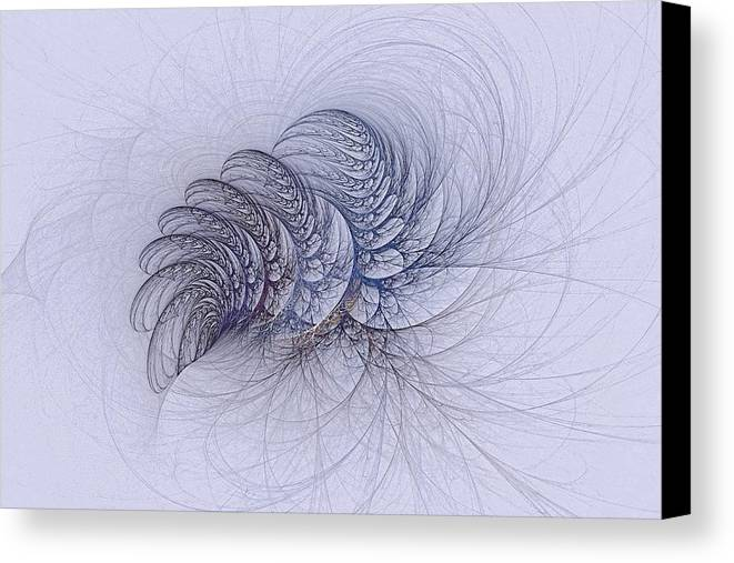 Canvas Print featuring the digital art Blue Pagliai Ferns by Doug Morgan