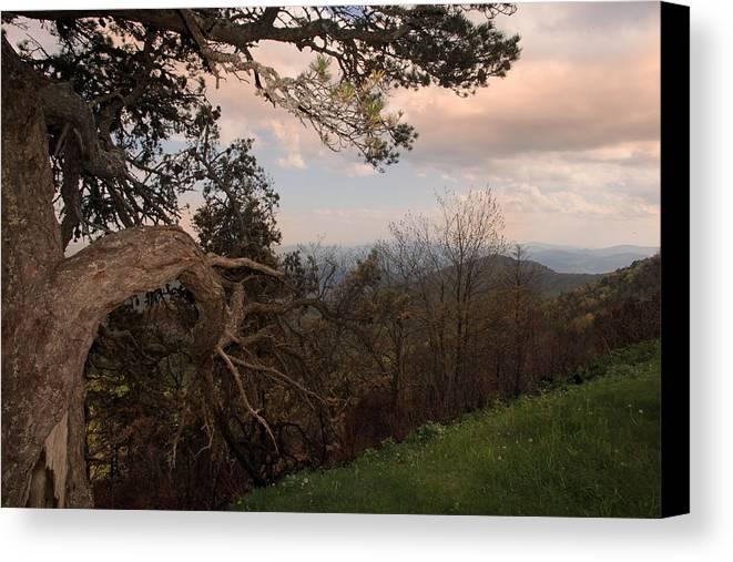 Blue Ridge Mountains Canvas Print featuring the photograph Blue Ridge Mts by Joseph G Holland