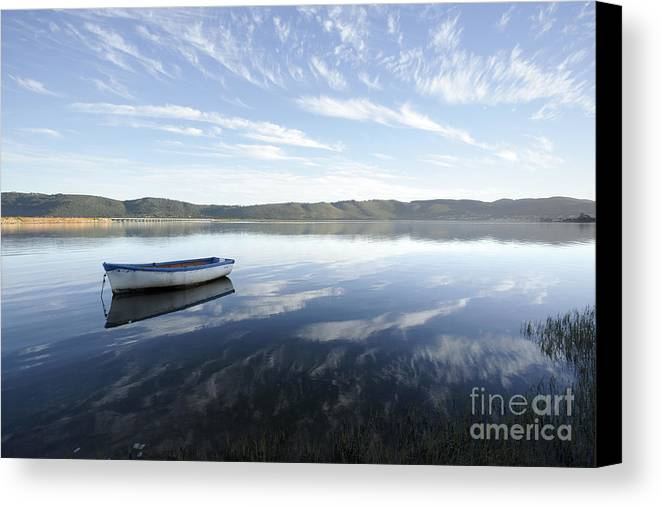Boat Canvas Print featuring the photograph Boat On Knysna Lagoon by Neil Overy