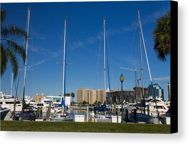 Marina Jacks Canvas Print featuring the photograph Boater's Paradise by Michael Tesar