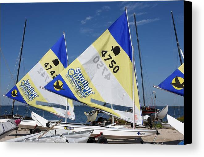Boats Canvas Print featuring the photograph Boats 168 by Joyce StJames