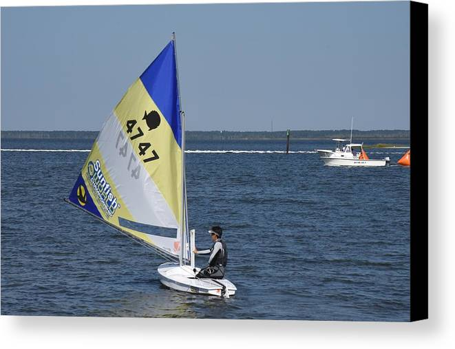 Boats Canvas Print featuring the photograph Boats 171 by Joyce StJames