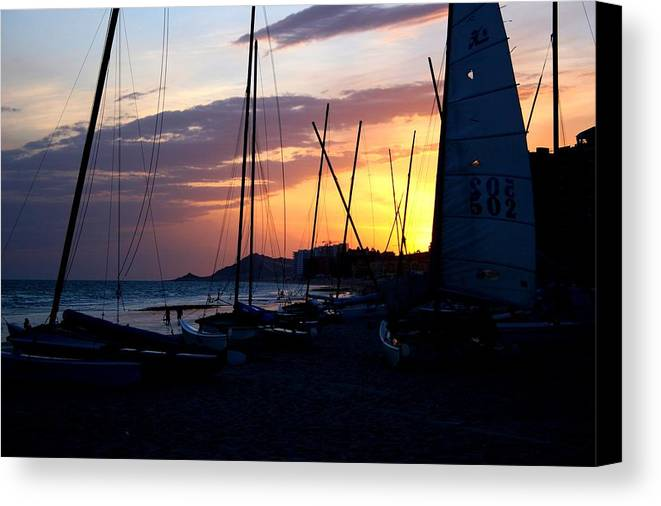 Boats Canvas Print featuring the photograph Boats At Rest by Bob Gardner