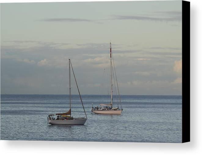 Boats Canvas Print featuring the photograph Boats On The Water by Samantha Peel