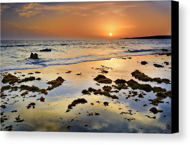 Bolonia Canvas Print featuring the photograph Bolonia Beach II by Guido Montanes Castillo