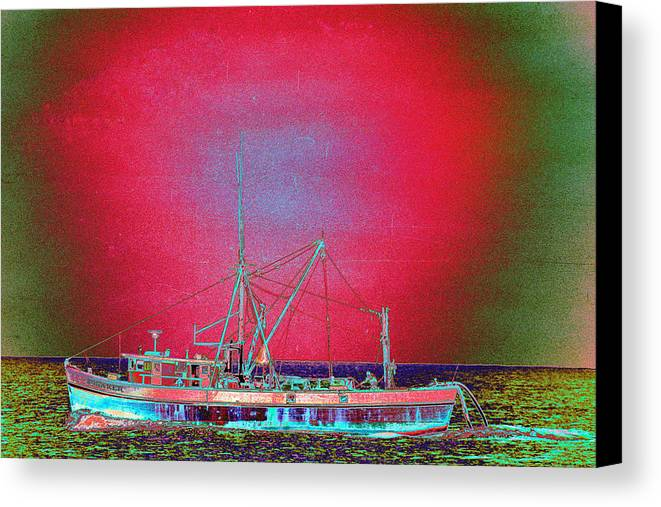 Fishing Boat Canvas Print featuring the photograph Bonaker by Richard Henne