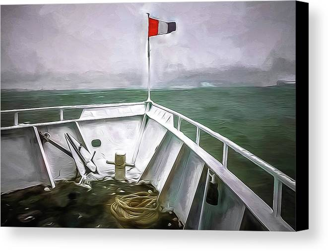Michael Setiabudi Canvas Print featuring the photograph Boston Harbor Cruise by Michelle Saraswati
