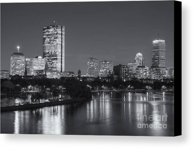 Clarence Holmes Canvas Print featuring the photograph Boston Night Skyline V by Clarence Holmes