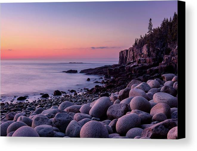 Acadia Canvas Print featuring the photograph Boulders At Dawn by Michael Blanchette