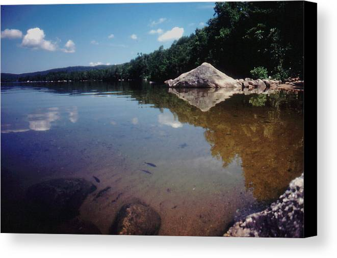 New Hampshire Canvas Print featuring the photograph Bow Lake Tranquility by Ron Swonger