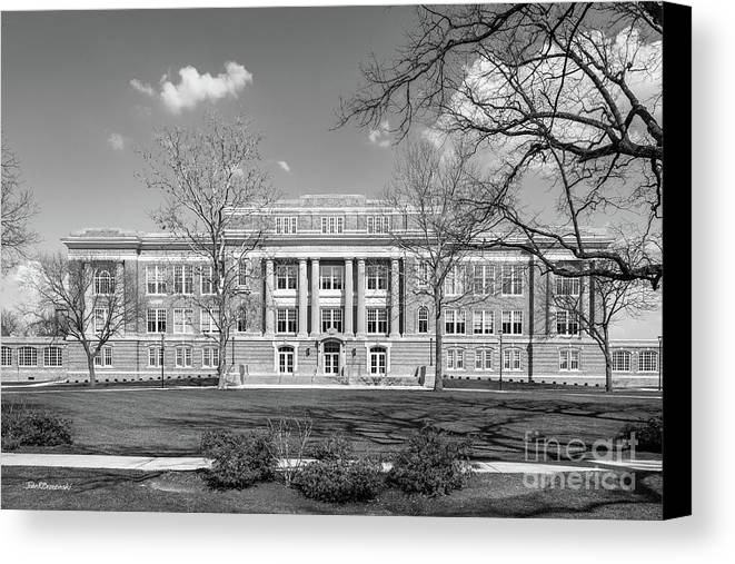 American Canvas Print featuring the photograph Bowling Green State University Hall by University Icons
