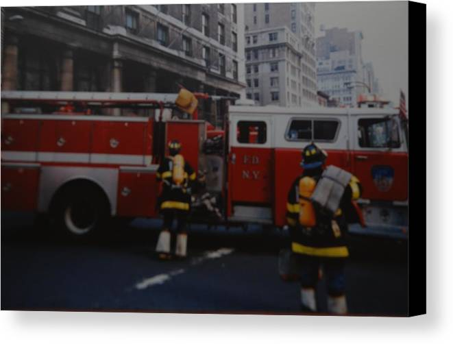 Fdny Canvas Print featuring the photograph Bravest Of The Brave by Rob Hans