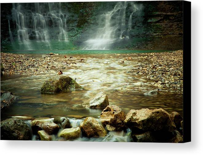 Landscape Canvas Print featuring the photograph Break Of Silence by Iris Greenwell