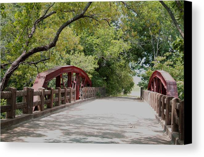 Landscape Canvas Print featuring the photograph Bridge 1 by Chuck Shafer