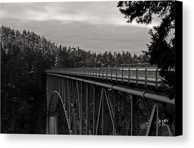 Photography Canvas Print featuring the photograph Bridge To Dawn by Joel Brady-Power