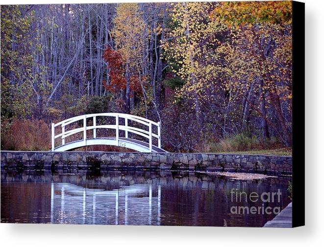 Bridge Canvas Print featuring the photograph Bridge To Serenity by Faith Harron Boudreau