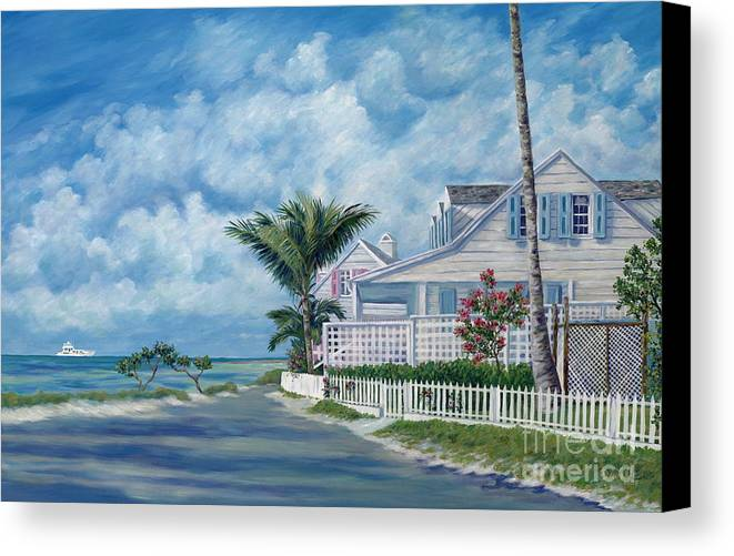 Harbor Island Canvas Print featuring the painting Briland Breeze by Danielle Perry