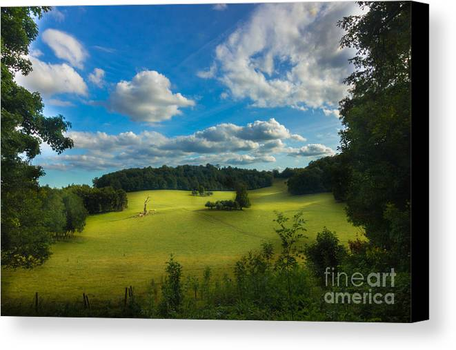 Landscape Canvas Print featuring the photograph British Countryside by Fabrizio Malisan