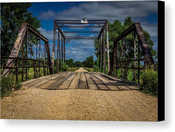 Bridge Canvas Print featuring the photograph Brookings County Bridge by Jeff West