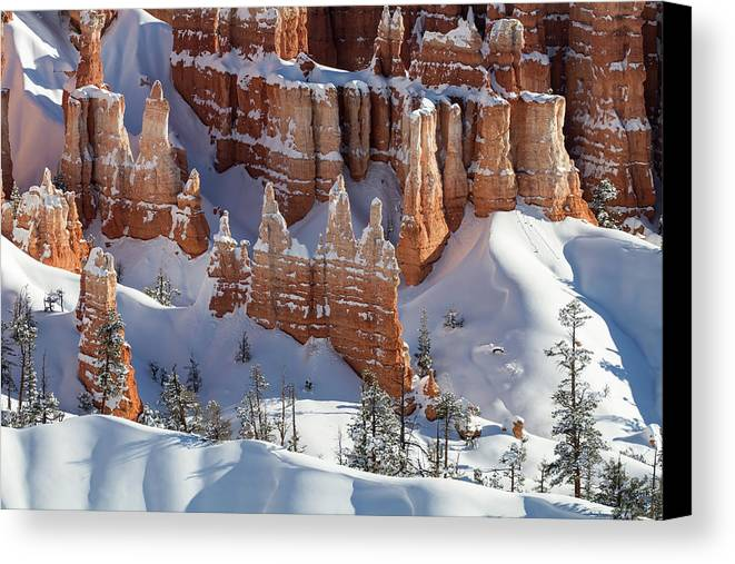 No People Canvas Print featuring the photograph Bryce Canyon National Park by Brett Pelletier