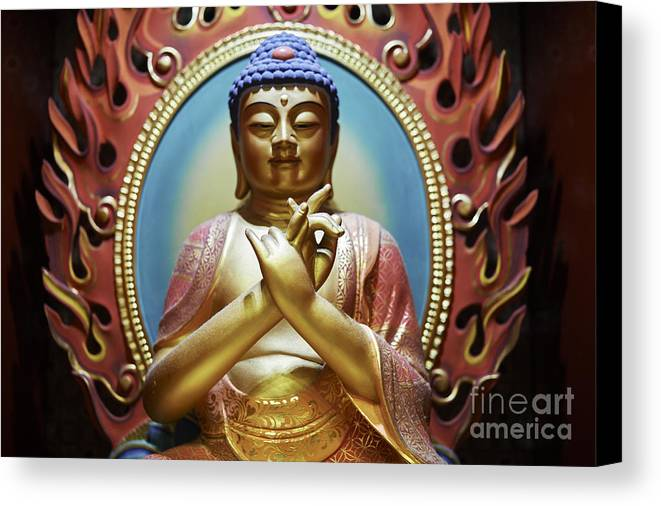 Buddha Canvas Print featuring the photograph Buddha Tooth Relic Temple 3 by Dean Harte