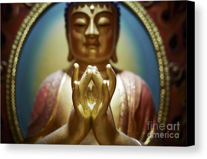 Buddha Canvas Print featuring the photograph Buddha Tooth Relic Temple 4 by Dean Harte