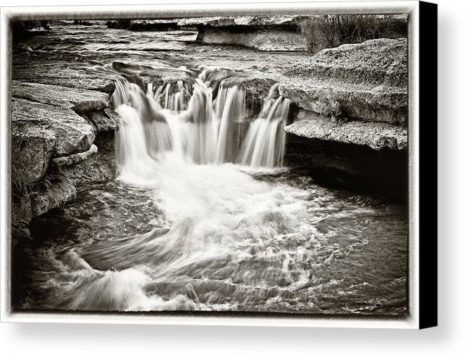 Waterfall Canvas Print featuring the photograph Bull Creek Water Run by Lisa Spencer