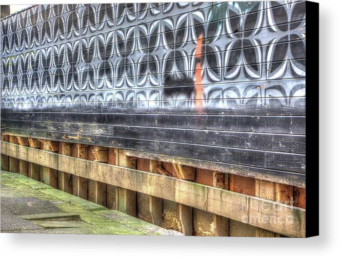 Dorthea Canvas Print featuring the photograph Butterfly Walled Graffiti by Dorothy Hilde