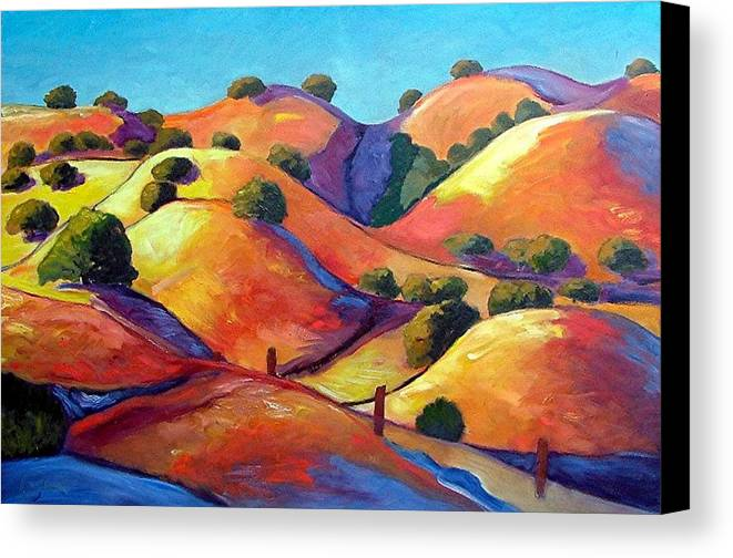 Curves Canvas Print featuring the painting Ca Rollers by Gary Coleman
