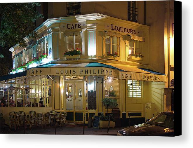 Cafe Canvas Print featuring the photograph Cafe Louis Philippe by Craig Andrews