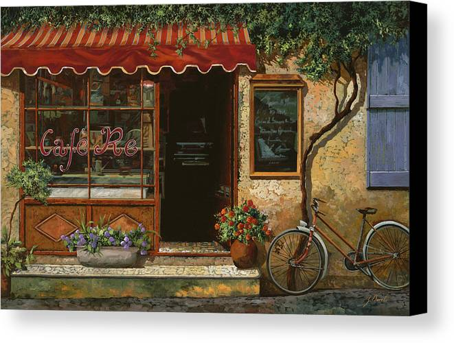 Caffe' Canvas Print featuring the painting caffe Re by Guido Borelli