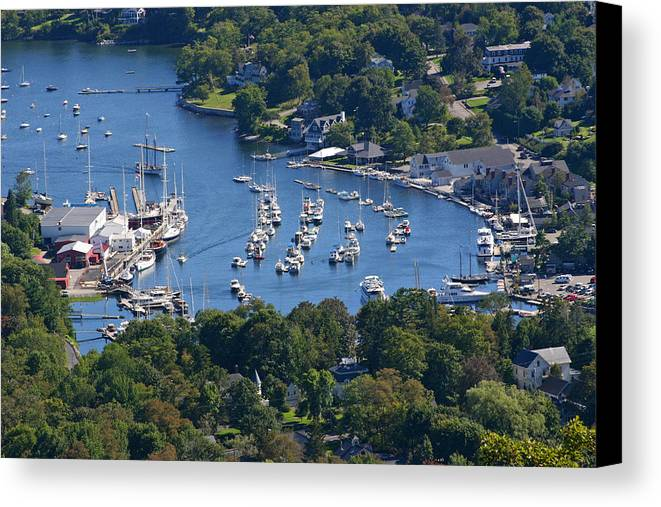 Maine Canvas Print featuring the photograph Camden Harbor by Frank Russell