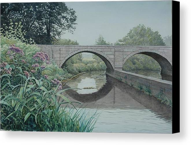 Landscape Canvas Print featuring the painting Camillus Canal by Stephen Bluto